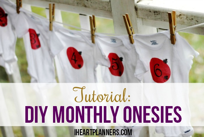 DIY Monthly Onesies