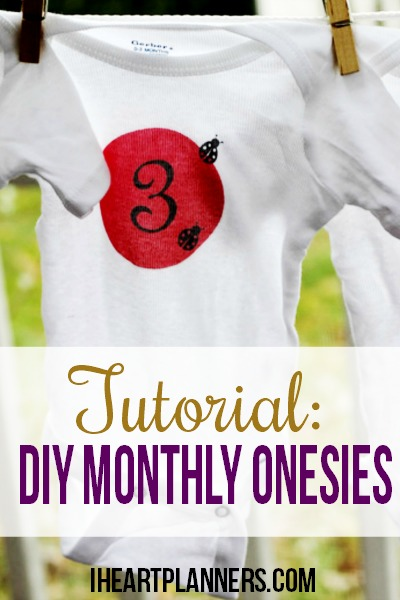 Baby Gift Of The Month Club : Diy monthly onesie tutorial i heart planners