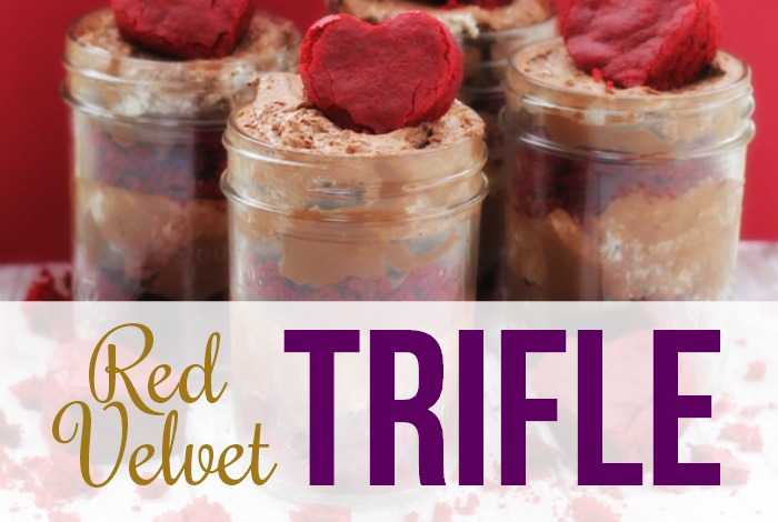 Valentine's Day Red Velvet Trifle