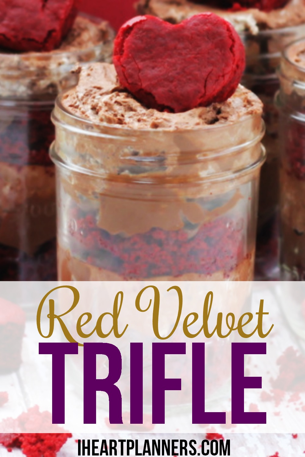 Red Velvet Trifle - This chocolate dessert is perfect for Valentine's Day or any holiday! Red velvet cake with chocolate mousse and chocolate pudding. A match made in heaven!