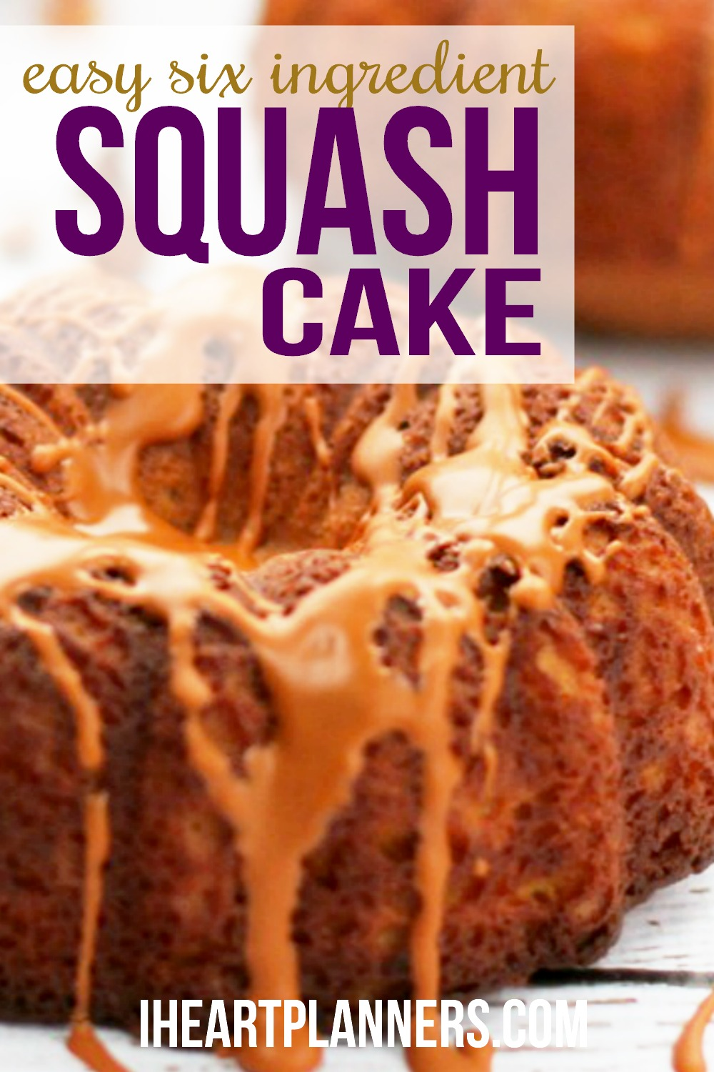 This six ingredient squash cake is super moist and yummy. If you have picky eaters, this recipe is the perfect way to serve dessert with vegetables.