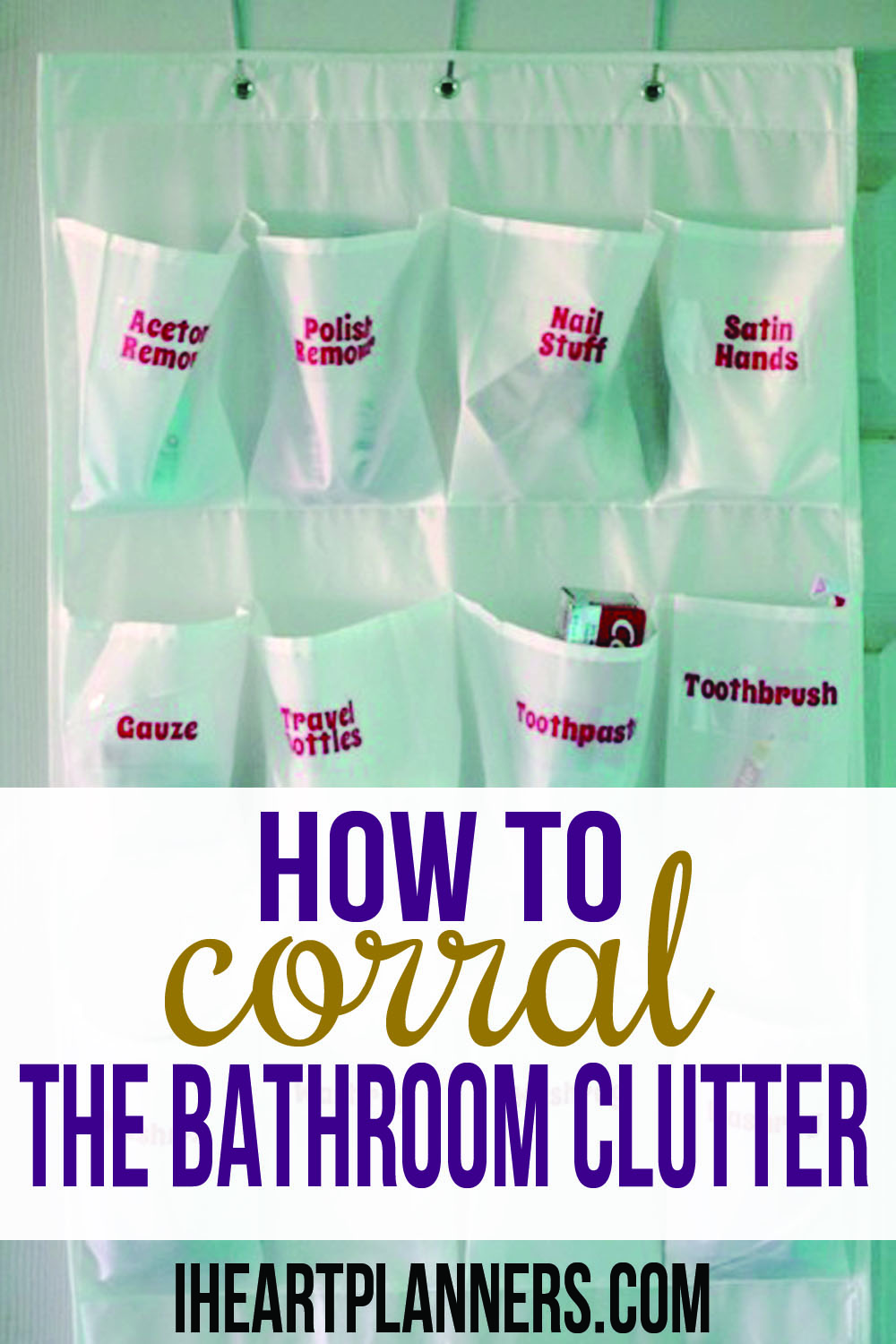Is your bathroom clutter out of control? Here is a simple and easy way to keep your clutter under control. This inexpensive organizer will whip your essentials into shape quickly.