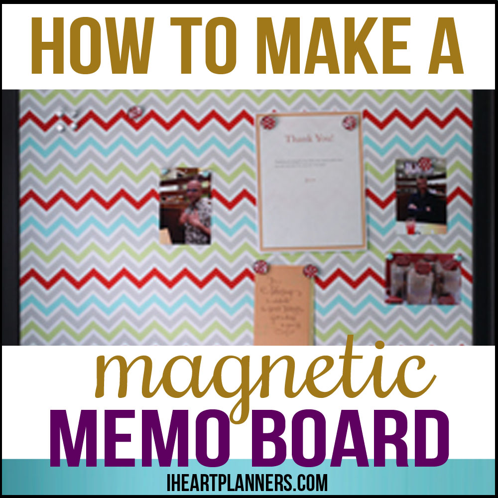 make your own magnetic memo board after you complete this easy diy project you