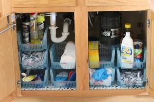 Under Sink Cabinet Organization