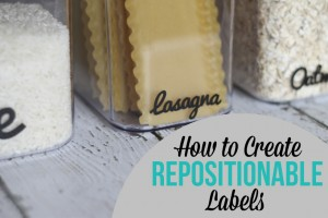 How to Make Repositionable Labels