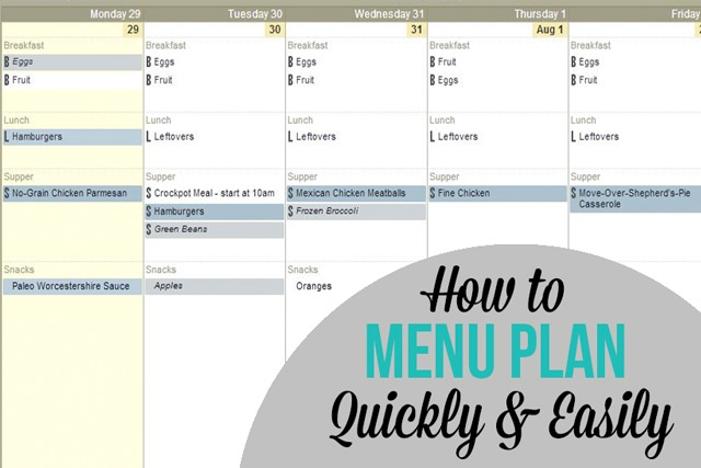 Quick and Easy Meal Planning Method