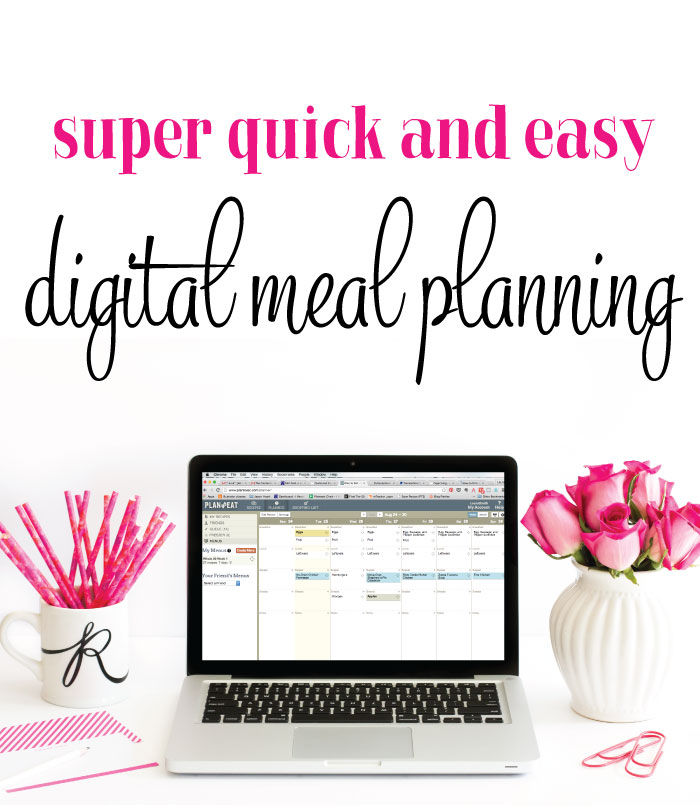 How to meal plan super quickly and easily using Plan to Eat on your computer (or smartphone).