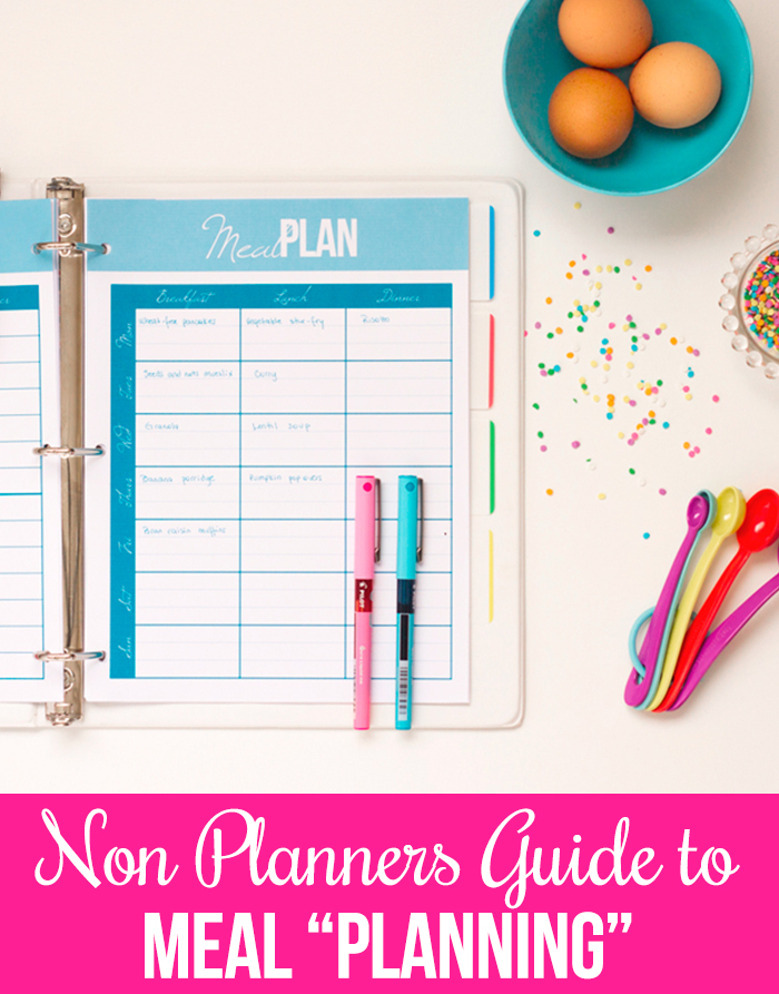 "How to menu ""plan"" when you have trouble sticking to a meal plan"