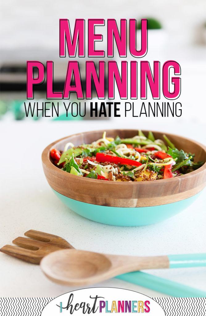 Menu Planning Type B
