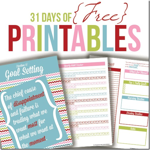 31 Free Printables!