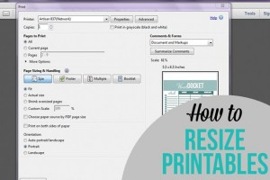 How to Resize Printables