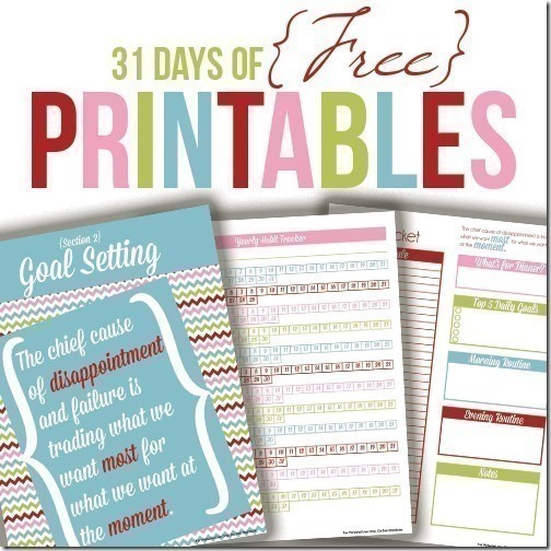 Welcome to Day 19 of the 31 days of free printables!
