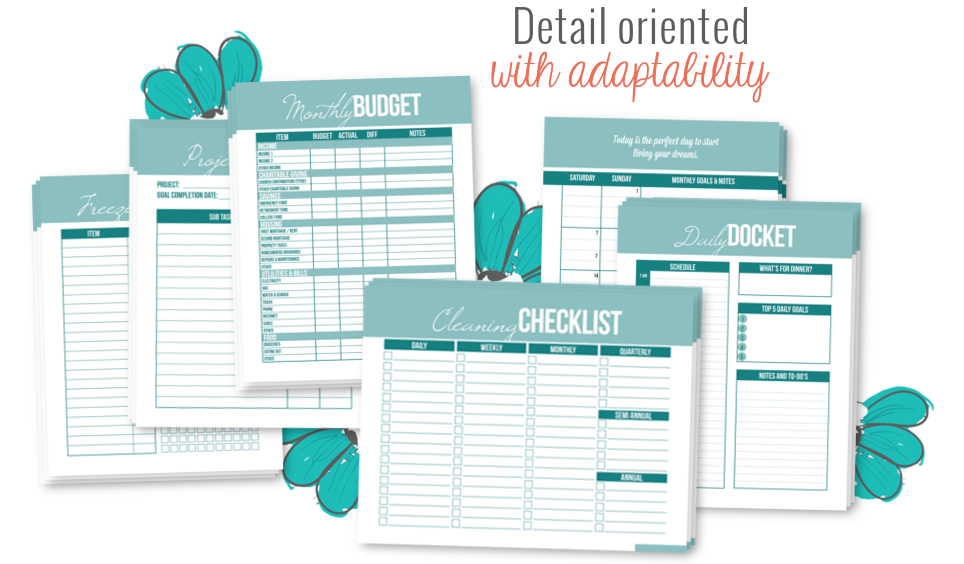 Sweet Life Printable Planner (Serenity Edition) - I Heart Planners