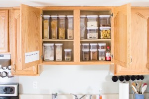 Cabinet Organization with Repositionable Labels