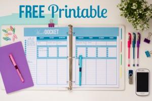 Free Weekly Docket Printable