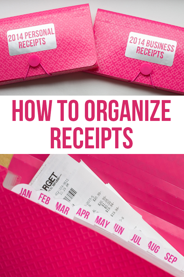 How to Organize Receipts - I Heart Planners