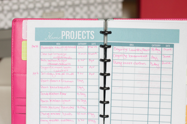 Tour of My Planner Lists Section