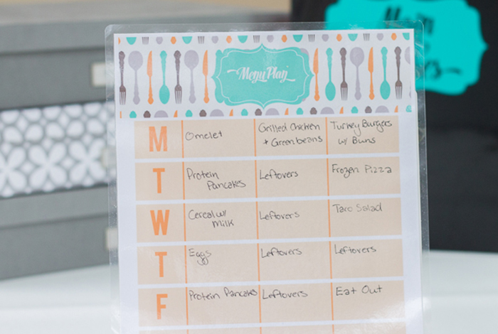 Get Organized with Dry Erase Sheets (and some Free Printables)