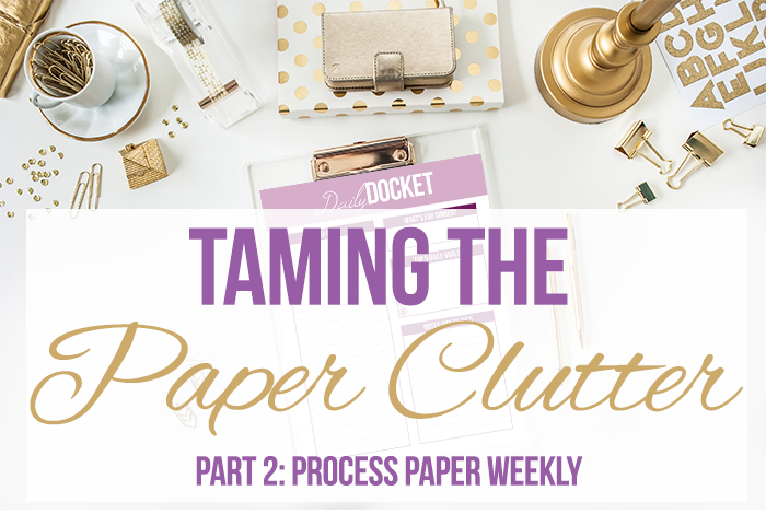 Taming the Paper Clutter Challenge, Part 2