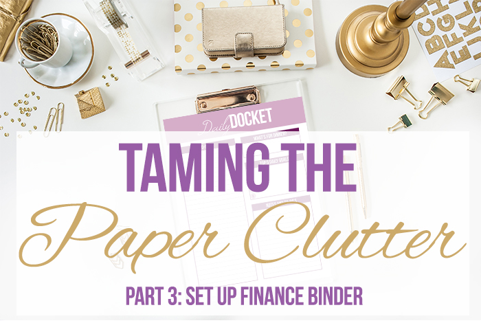 Taming the Paper Clutter Challenge, Part 3