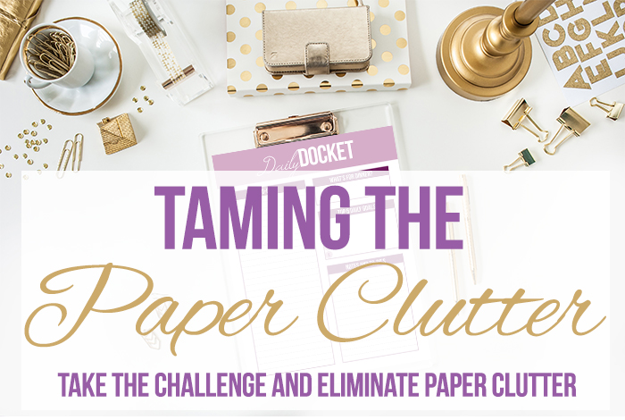Taming the Paper Clutter Challenge, Part 1
