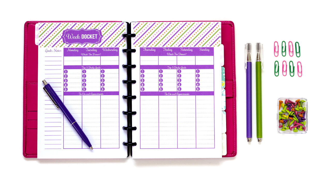 daily work planner printable