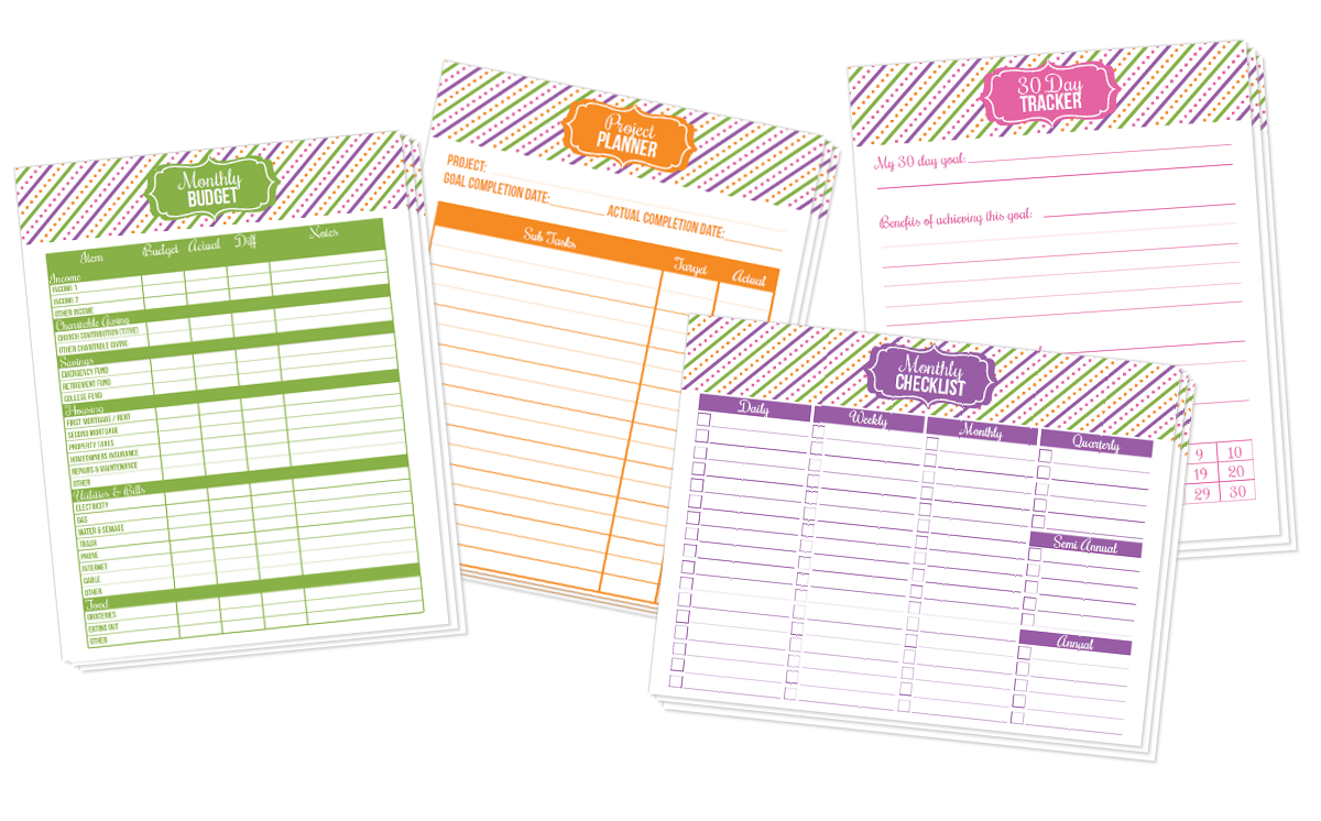 It is a picture of Unforgettable Free Printable Life Planner