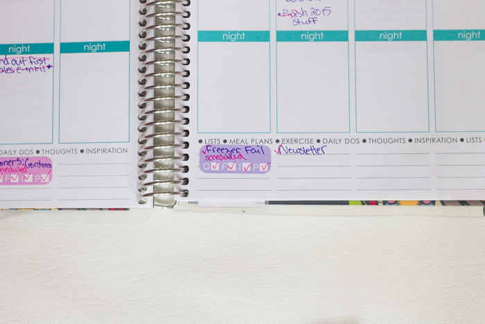 Made my own stickers for the Erin Condren Life Planner