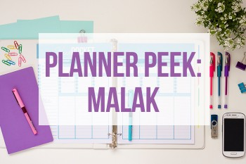 Take a tour of Malak's planner!