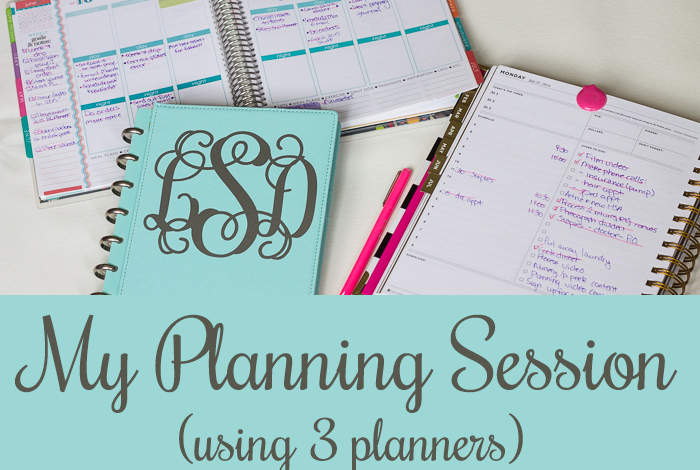 How I Plan My Weeks Using 3 Planners