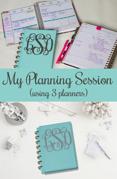 How I Plan My Weeks (Using 3 Planners)