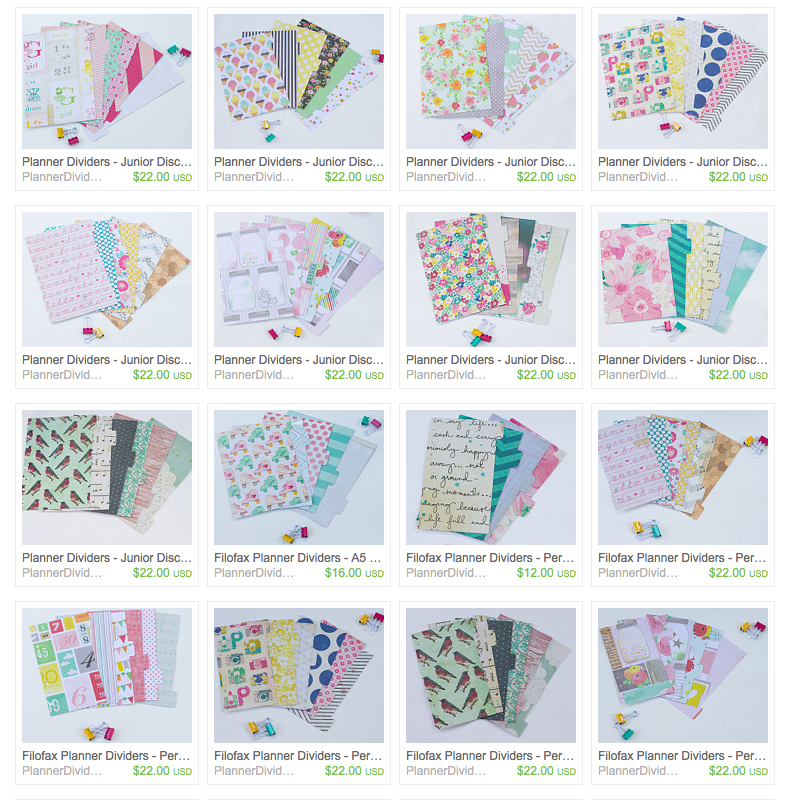 New Planner Divider Shop and FREE Shipping! - I Heart Planners