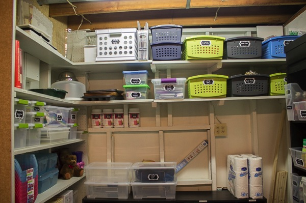 Charmant How To Organize On A Budget · SaveEnlarge · 8footsix Basement Storage Room