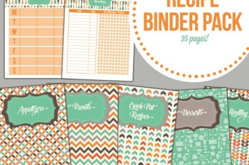 Get this recipe binder pack FREE for the next couple weeks.