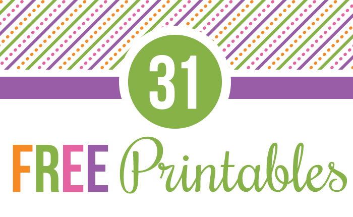 31 Days of Free Printables!