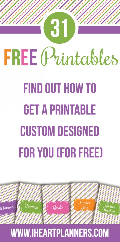 How to get a custom designed printable for FREE!