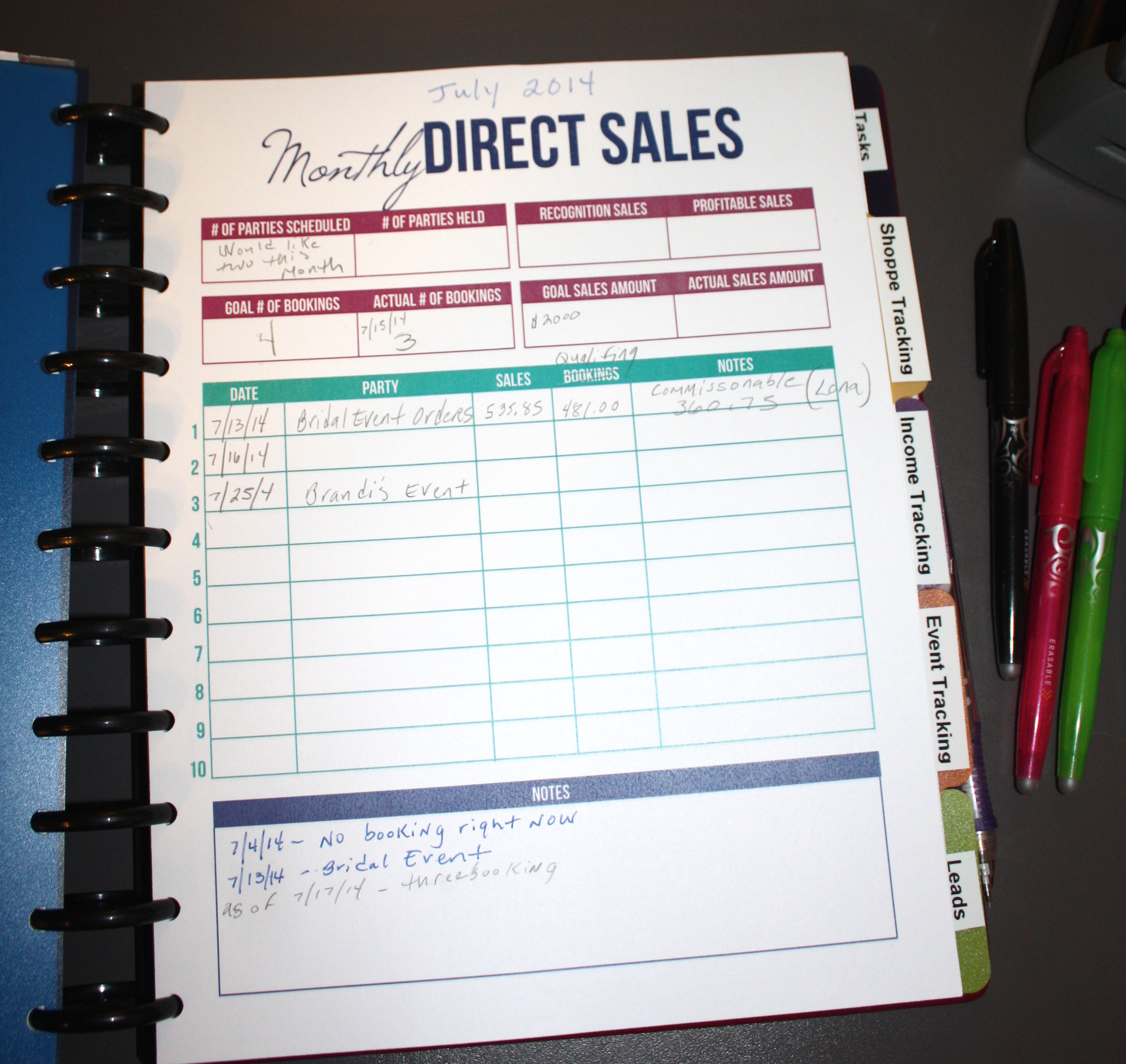 personal business planner