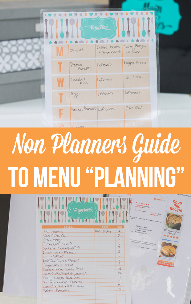 "How to menu ""plan"" when you don't really like to meal plan and have a hard time sticking with your plan"