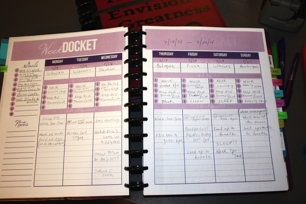 Take a tour of Kari's planning system. She uses an Arc discbound system from Staples and has two planners (one for business and one for personal).