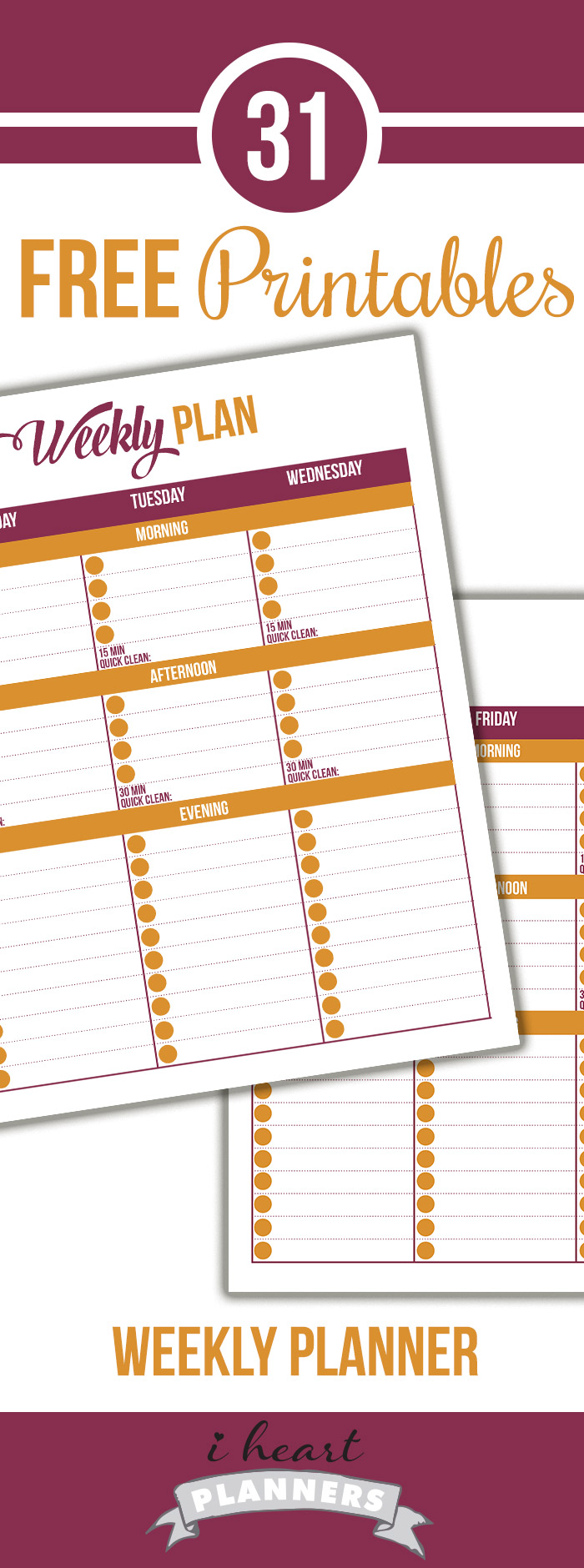 FREE Weekly Schedule Printable
