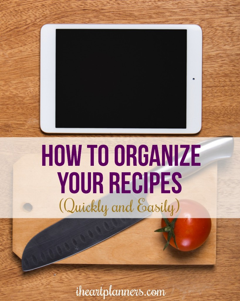 How to organize your recipes online using Evernote. No more recipes all over the place. Keep your recipes organized and categorized all in on place.