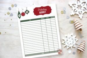 Christmas Budget Printable (Day 3)