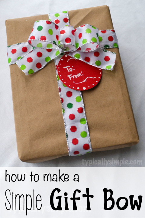 How to make a really simple, quick, and easy gift bow