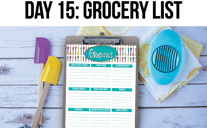 Meal Plan and Shopping List