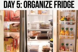Organize your refrigerator and freezer