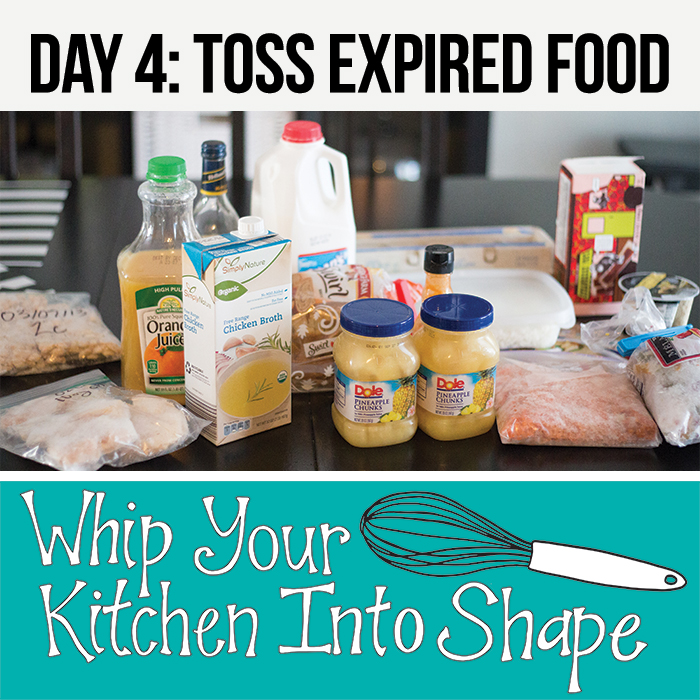 Toss expired foods from your fridge.