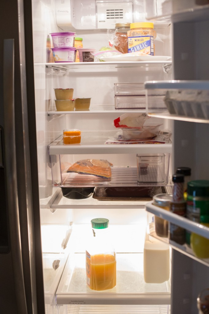 Refrigerator after tossing expired food