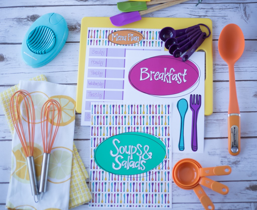 Create a recipe binder to organize all your printed recipes.