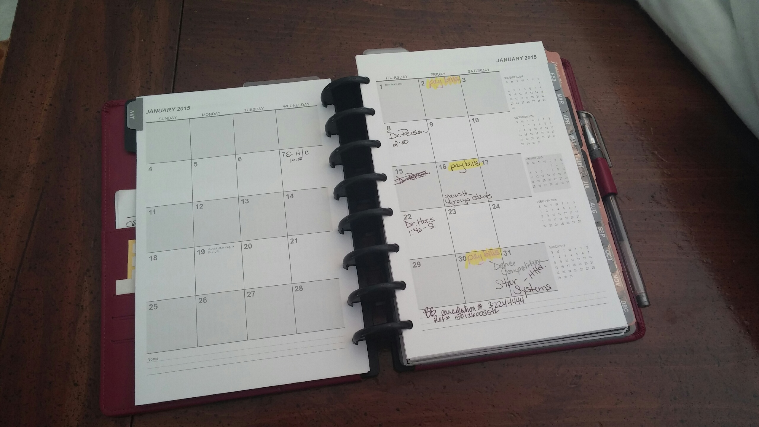 Side by Side Monthly Calendars for Personal and Business Use