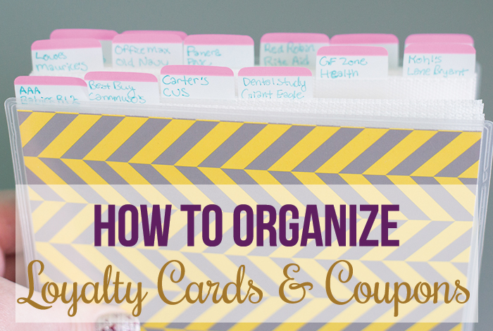 organize store loyalty cards  coupons